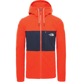 The North Face Blocked TKA 100 Full-Zip Hoodie Men fiery red/urban navy